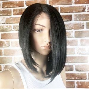 Women's Bob Asymmetrical Black Wig
